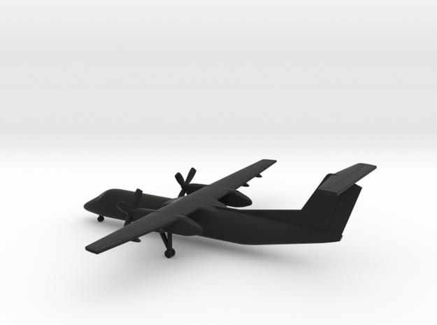 Bombardier Dash 8 Q300 in Black Natural Versatile Plastic: 1:350