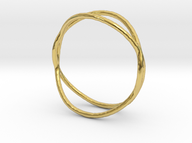 Ring 02 in Polished Brass