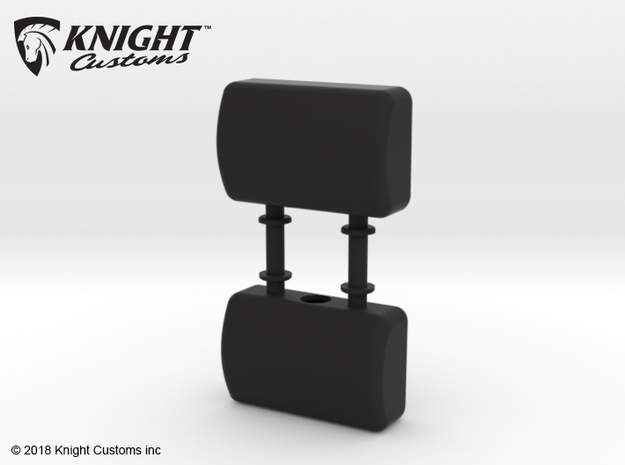 VP10004 Origin Seat headrests in Black Natural Versatile Plastic