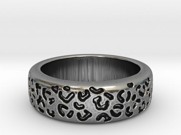 Leopard spot ring multiple sizes in Antique Silver: 5 / 49
