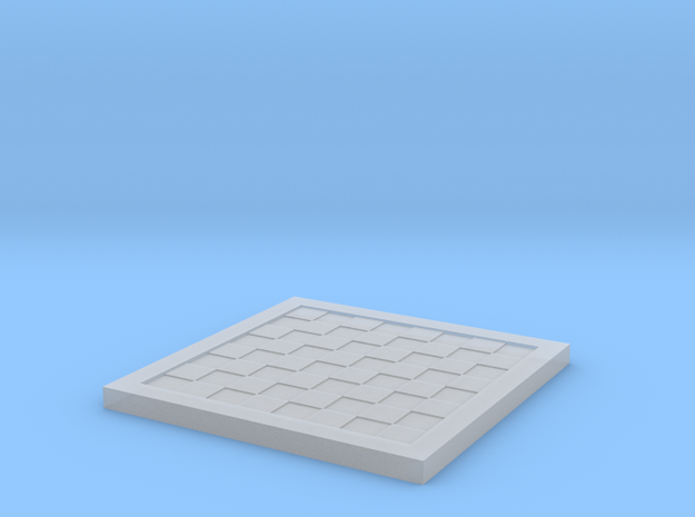 1/18 Scale Chess Board (Bare) in Smooth Fine Detail Plastic