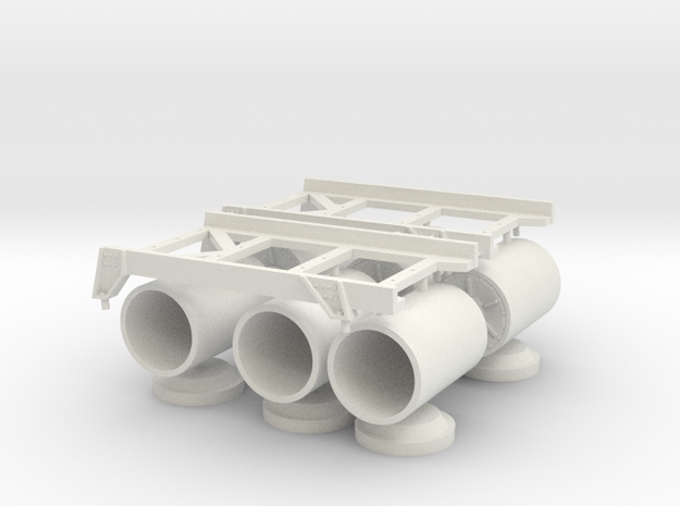 1 to 20 roll of rack and depth charges in White Natural Versatile Plastic