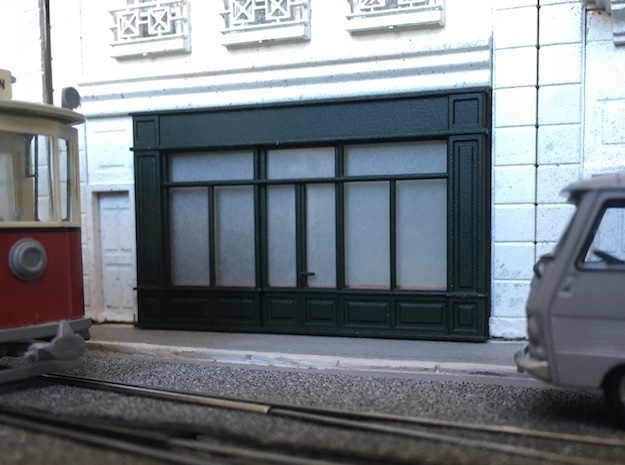 1:87 Devanture - Storefront (x2) F in Smooth Fine Detail Plastic