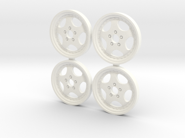 4 tapacubos cup 18.1mm in White Processed Versatile Plastic