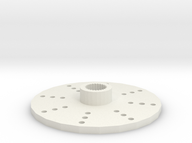 9g servo arm round in White Natural Versatile Plastic