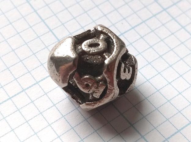 Chord Die10 in Polished Bronzed-Silver Steel