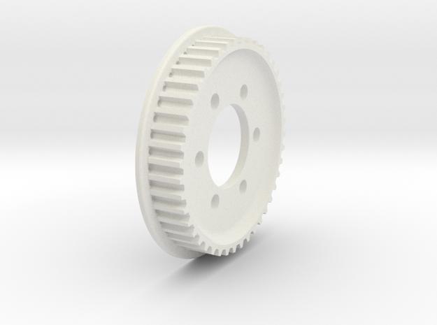 JABBER 44T Belt Pulley for pre 2016 Hubs in White Natural Versatile Plastic