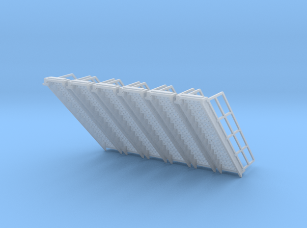 1/64 Stairs for 10' Tower 6pc in Smooth Fine Detail Plastic