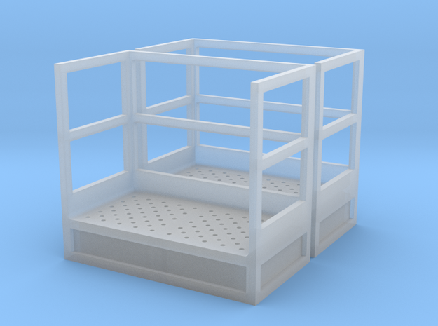 1/64 Stairs Platform for 15' Tower 2pc in Smooth Fine Detail Plastic