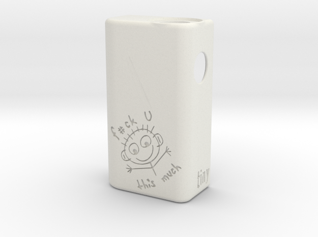 TLF# - Stick Man Body - 18650 in White Natural Versatile Plastic