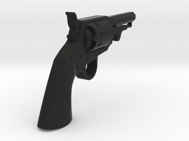 Ned Kelly Gang Colt 1851 Pocket Revolver 1:6 scale in Black Natural Versatile Plastic