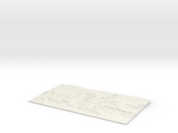 Apocalyptic City Flat Lithophane in White Natural Versatile Plastic