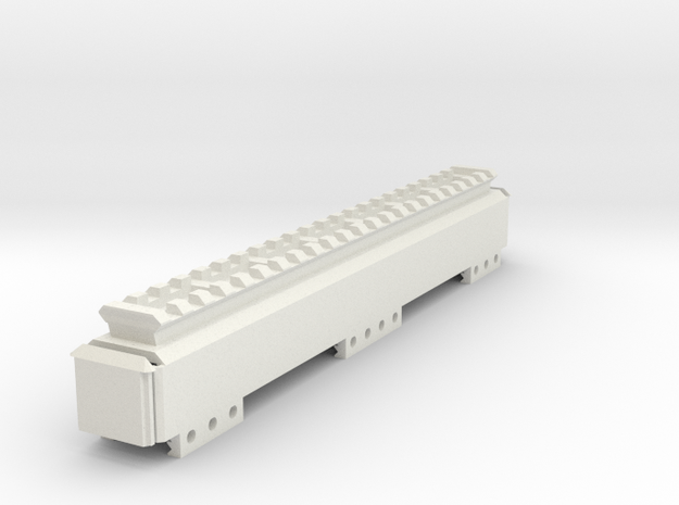 Stick Battery Box (230mm) with Top Picatinny Rail in White Natural Versatile Plastic