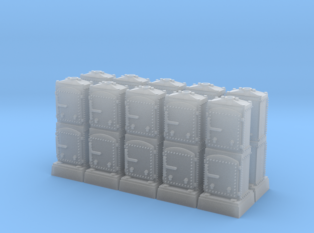 US&S Relay and Battery Box (N - 1:160) 10X in Smoothest Fine Detail Plastic