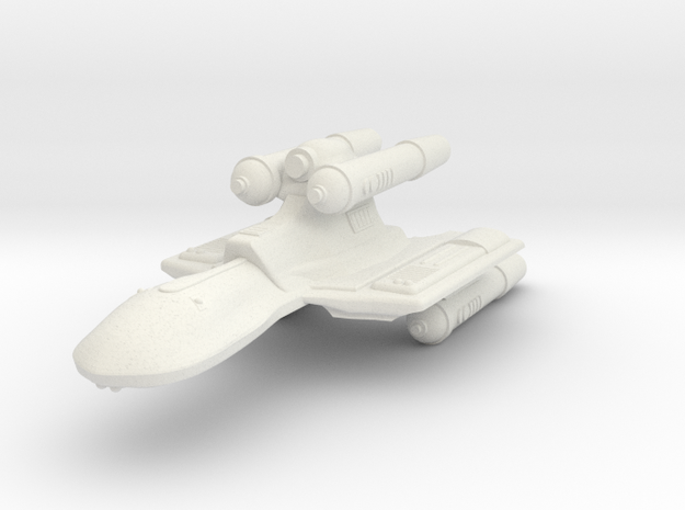 3788 Scale Romulan KillerHawk Super-Heavy Cruiser in White Natural Versatile Plastic