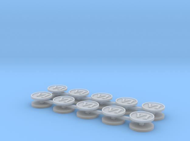 Roman numeral VI x20 in Smooth Fine Detail Plastic