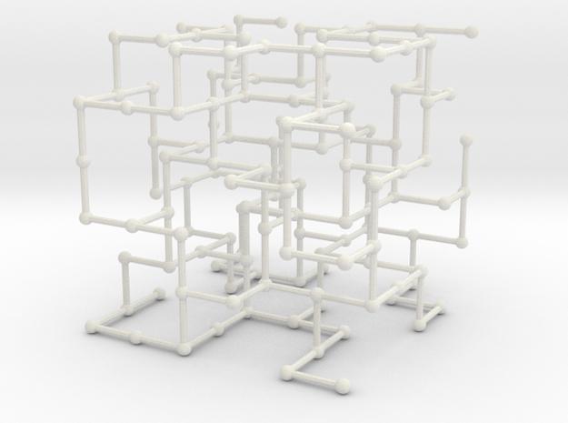 Haugland's grid subgraph no. 4 in White Natural Versatile Plastic