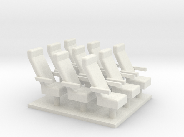 Caboose chairs X9 in White Natural Versatile Plastic