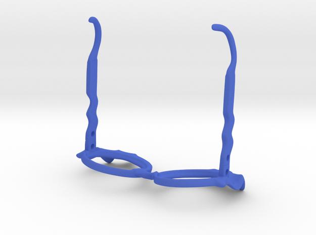 Wave Glasses in Blue Processed Versatile Plastic: Small