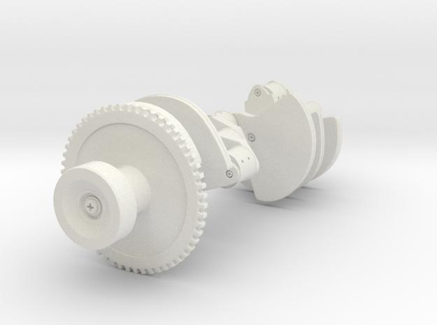 Crankshaft in White Natural Versatile Plastic