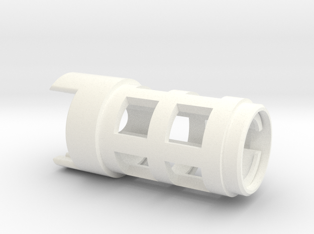 89 Qui-Gon Battery holder in White Processed Versatile Plastic