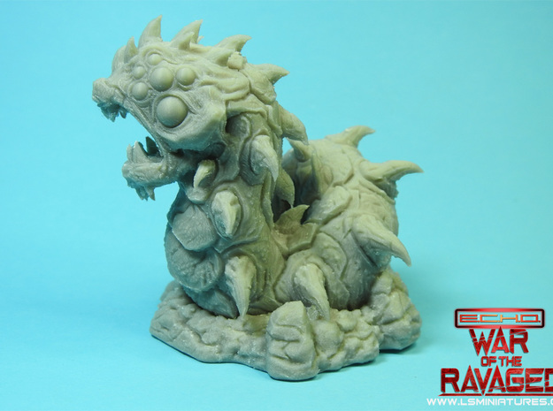 Ravager Worm-War Of The Ravaged Board Game Mini in White Natural Versatile Plastic: Small