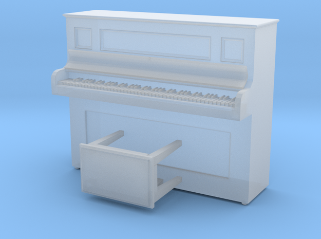 S Scale Piano in Smooth Fine Detail Plastic