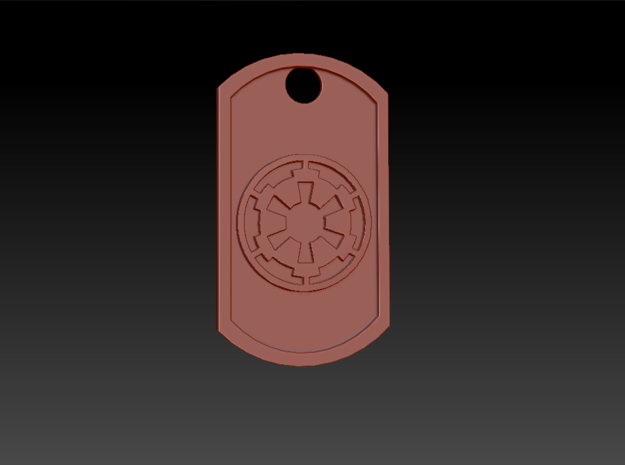 Star Wars Imperial Seal Themed Dog Tag in Polished Nickel Steel