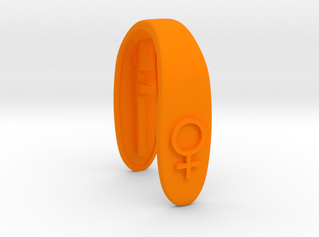 SHE - KEY FOB  in Orange Processed Versatile Plastic