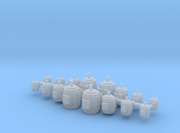 Elektromotoren Größe A-D 16er Set 1:120 in Smooth Fine Detail Plastic
