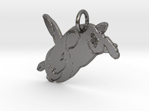 Bunny SF Pendant  in Polished Nickel Steel: Extra Small