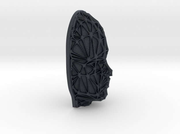 Female Face + Voronoi Mask in Black PA12