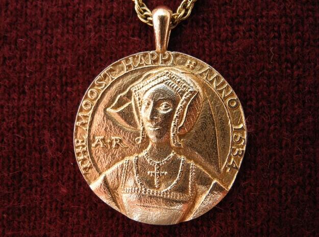 Anne Boleyn Pendant  in Natural Bronze