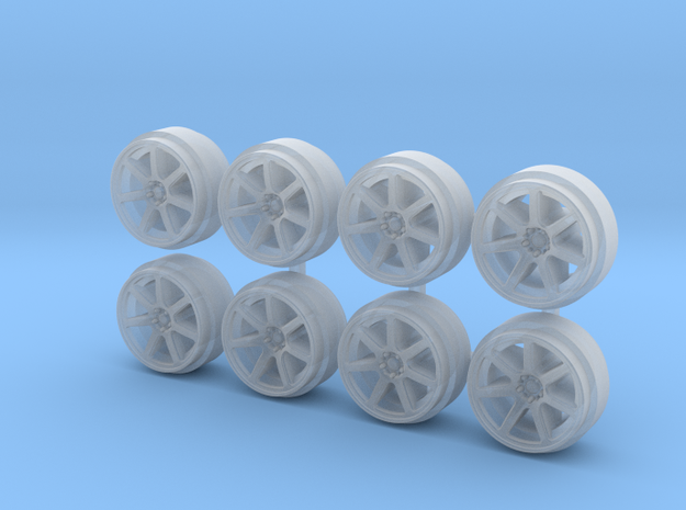 XT7 9-0 Hot Wheels Rims in Smoothest Fine Detail Plastic