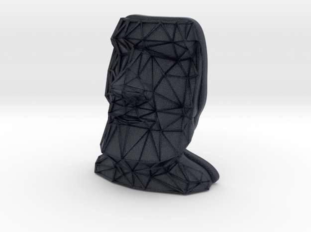 Moai Face + Voronoi Mask in Black PA12