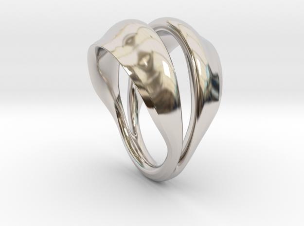 Fortune in Rhodium Plated Brass