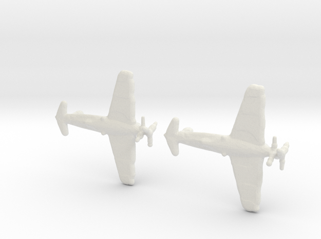 1:700 Henschel P.75  (Set of 2)  in White Natural Versatile Plastic
