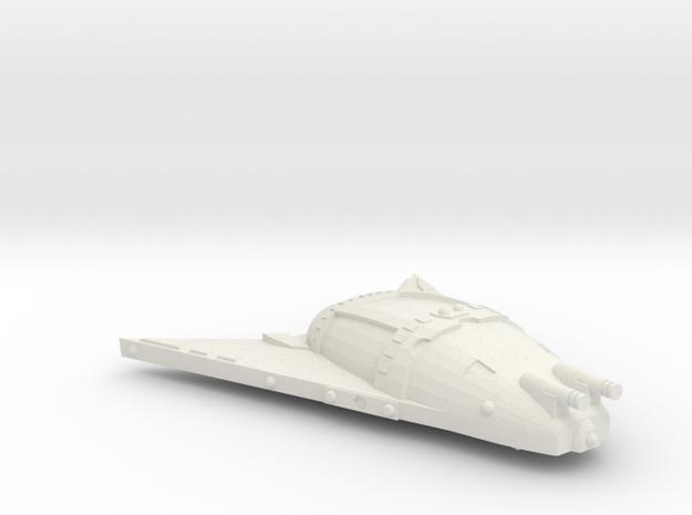 3125 Scale Hydran Lion Hunter War Destroyer Leader in White Natural Versatile Plastic