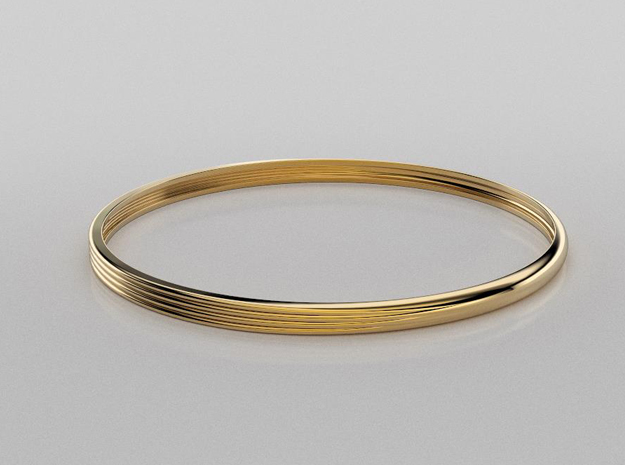 Textured bangle #1 in 14K Yellow Gold