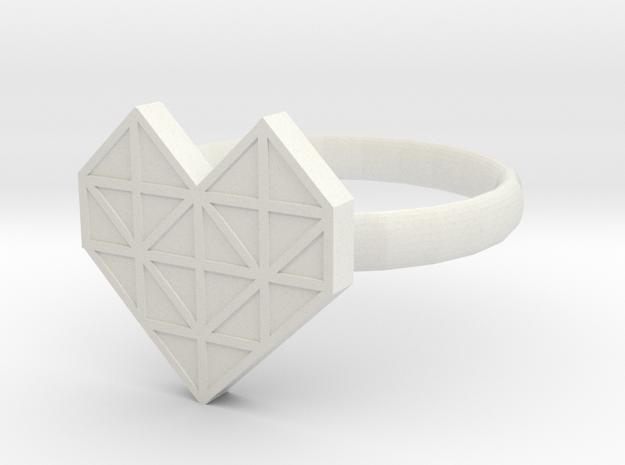 HEART 1 in White Natural Versatile Plastic: 1.5 / 40.5