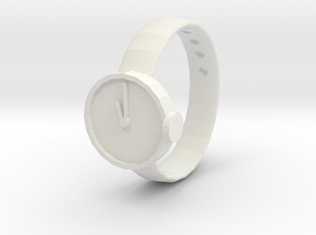 LITTLE WATCH in White Natural Versatile Plastic: 1.5 / 40.5