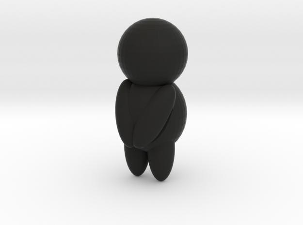 Little people towel hook in Black Natural Versatile Plastic