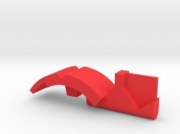 Warthog  Throttle part center geometric in Red Processed Versatile Plastic