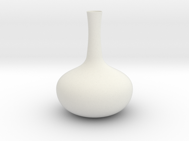 Vase Mod 001 in White Natural Versatile Plastic