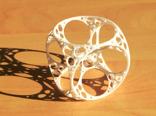 Apollonian Cube in White Natural Versatile Plastic