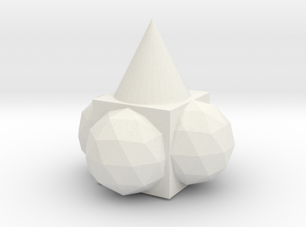 The Dunce Cap and the Beach Balls in White Natural Versatile Plastic