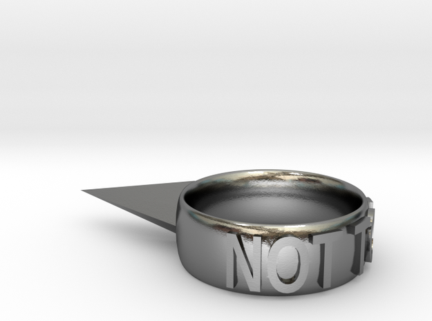 Not Today Ring in Polished Silver: 6 / 51.5