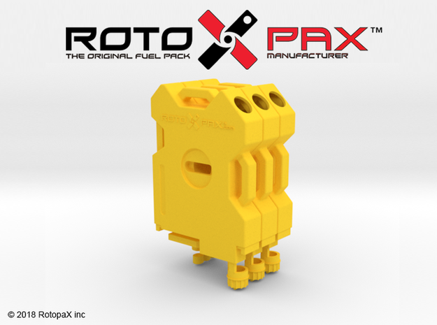 TR10020 TRX-4 RotopaX YELLOW in Yellow Processed Versatile Plastic