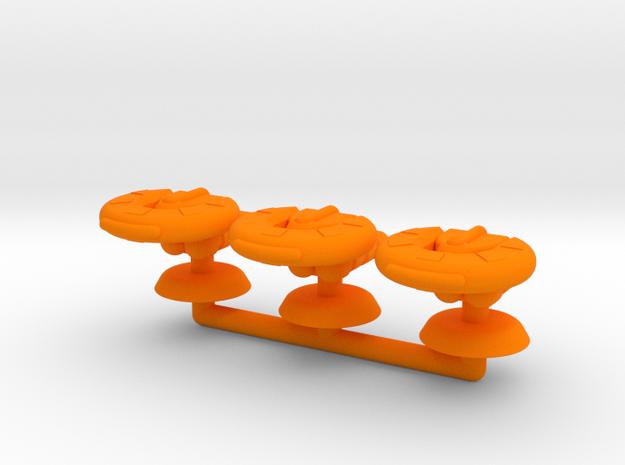 Gamma Generic Small Warship Squadron in Orange Processed Versatile Plastic