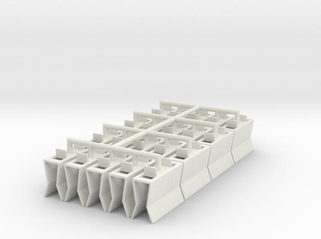 HIC Clip 2 No Tops Conencted in White Natural Versatile Plastic
